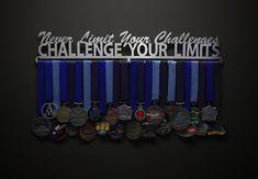 Etsy Never Limit Your Challenges, Challenge Your Limits - Allied Medal Hanger Holder Display Rack Bar Displays, Medal Displays, Race Bibs, Running Medals, Medal Holders, Hanging Bar, Hard Work And Dedication, Pandora Bracelet Charms, Challenges