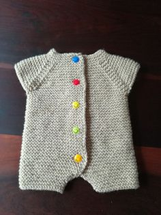 Ravelry: Garter Stitch Baby Romper pattern by marianna mel knitting patterns toys christmas Knitting For Kids, Baby Knitting Patterns, Baby Patterns, Knitting Socks, Crochet For Kids, Free Knitting, Loom Knitting, Crochet Patterns, Sweater Patterns