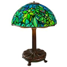 "Tiffany Studios ""Woodbine""  Lamp 