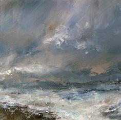 Janette Kerr, 'Scattered Showers, Porth Nanven', oil on canvas, 61 x 61cm, SOLD