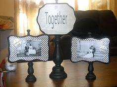 I want to do this with some old spindles I found and use my old black and whites of my great grandmothers wedding