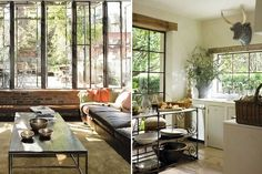 So many windows, so much greenery and I love it and want it all!
