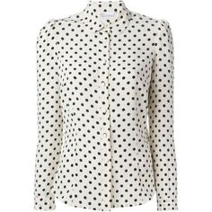 Red Valentino polka dot blouse ❤ liked on Polyvore featuring tops, blouses, polka dot blouse, polka dot top, red valentino top, white top and dot blouse