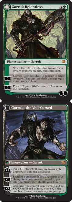Magic The Gathering Innistrad: Garruk Relentless - Garruk the Veil-Cursed Card Kingdom