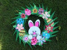 Empty Box Cardboard Easter Wreath