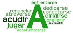 Verbos con preposición A