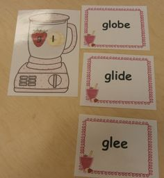 Blends working with words center activity.