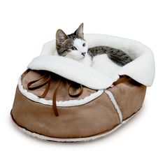 Moccasin Pet Bed | Dog Lover Gifts; Cat Lover Gifts | UncommonGoods