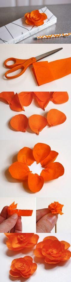 Цветок из бумази