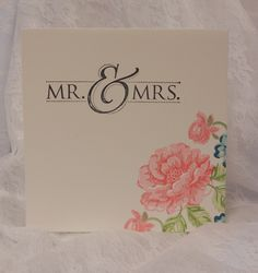 stampin up mr Wedding Shower Cards, Wedding Invitation Cards, Wedding Cards, Birth Announcement Girl, Birth Announcements, Yellow Envelopes, Wedding Anniversary Cards, Flower Cards, Love And Marriage