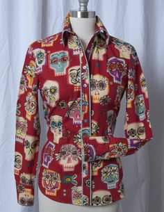 Women's Flower Eyes Red CR Tradition Western Shirt