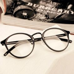 Men Women Nerd Glasses Clear Lens Eyewear Unisex Retro Eyeglasses Spectacles -- Details on product can be viewed by clicking the image