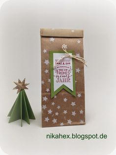 Nikas Hexerei: Ganztagesworkshop Weihnachtlicher Winterzauber - Teil 2 - Unsere Projekte - Tüte - Stampin Up
