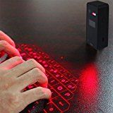 LeaningTech KB580 Wireless Laser Projection Bluetooth 3.0 Virtual Keyboard for iOS Iphone, Ipad, Android Smartphone and Tablets, Black