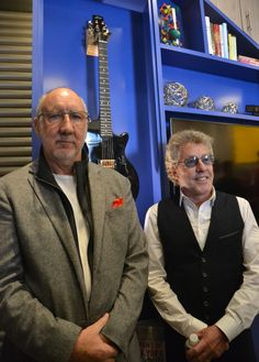 The Who's Pete Townshend (left) and Roger Daltrey at the new Memorial Sloan Ketering - Teen Cancer America lounge on March 18, 2016. (Photo: Stacey Severn)
