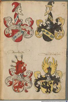 Wappen deutscher Geschlechter Augsburg ?, 4. Viertel 15. Jh. Cod.icon. 311  Folio 53r