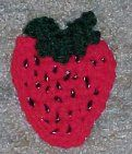 STRAWBERRY FRIDGIE - free crochet pattern