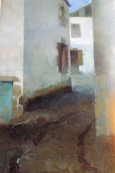 F I N S K A: Helene Schjerfbeck, tišina koja govori Helene Schjerfbeck, Landscape Art, Landscape Paintings, Watercolor Paintings, Female Painters, Z Arts, Famous Art, Abstract Images, Watercolor Techniques