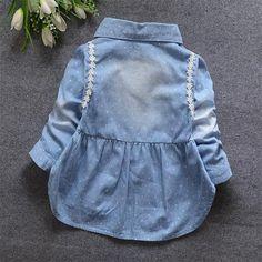 Fashion Spring Baby Baby Infant Girls Lace Kids Denim Jeans Long Sleev – Honeybee Line Fashion Wear, Fashion Spring, Kids Fashion, Infant Girls, Baby Patterns, Kids Wear, Girls Dresses, Baby Dresses, Denim Jeans