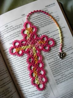 This Saturday we are going to be attending the First Communion of one of our beautiful nieces and I thought that a tatted cross bookmark for...