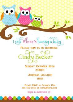 free printable owl baby shower invitations {& other printables, Baby shower invitations