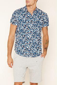 Geo Print Pocket Shirt   21 MEN - 2000153799 // in gray