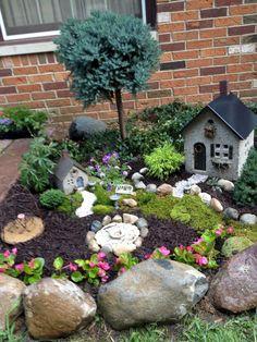 Nice 120 Amazing Backyard Fairy Garden Ideas on A Budget https://homeastern.com/2017/07/13/120-amazing-backyard-fairy-garden-ideas-budget/
