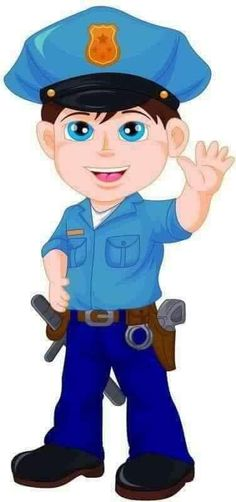 Photo from album Cartoon Kids, Cute Cartoon, Lego Juniors, School Frame, School Clipart, Cute Clipart, Community Helpers, Cute Illustration, Police Officer