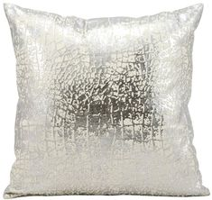 "Silver Donna Karan Home Reflection Feather Down 16/"" x 20/"" Decorative Pillow"