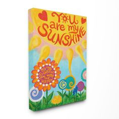 The Kids Room You Are My Sunshine Canvas Wall Art