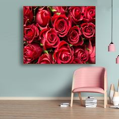Laeacco Canvas Calligraphy Painting Blooming Red Roses Posters and Prints Romantic Wall Art Pictures for Living Room Home Decor Love Wall Art, Love Art, Wall Art Decor, Living Room Pictures, Wall Art Pictures, Types Of Art Styles, Wine Poster, Food Painting, Rooms Home Decor