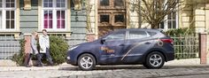 The first hydrogen fuel cell car to be used in a car sharing programme!
