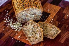 This hemp seedy bread is a delicious nutritient dense bread that has so much flavour. Not a fan of seeded breads normally this one is a star recipe Protein Bread, Paleo Bread, Low Carb Bread, Hemp Bread Recipe, Cookbook Recipes, Bread Recipes, Keto Recipes, Healthy Recipes, Lowest Carb Bread Recipe