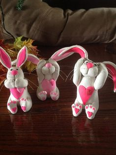 Innocent Bunnies...See no Evil Hear no by BeverlyJaneCreations