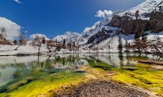 Naltar lake , a little further away from Rama Meadows. North Pakistan.