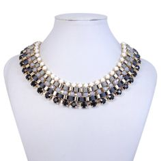 Art Deco Black Rope Knot Statement Necklace by BellaJewelry4u, $14.99