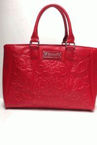 Loungefly – Embossed Sugar Skull Bag In Red PU