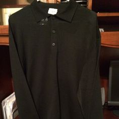 Gent's  Black Lightweight sweater- lamb's Wool Gent's Black light weight Liena Uno -  made In Italy Liena Uno Sweaters