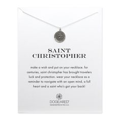 saint christopher necklace, sterling silver