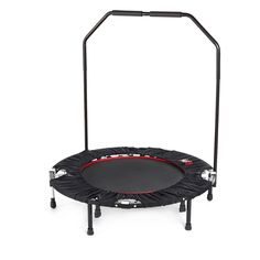 401087 Urban Rebounder Fitness System & Workout DVD QVC PRICE: £108.00 INTRODUCTORY PRICE: £99.99 + P&P: £8.95 or 3 Easy Pays of £33.33 +P&P This sturdy mini trampoline and DVD set is great way to tone the legs and core muscles while also getting a thorough cardiovascular workout. Put the fun back into exercising with this duo from Urban Rebounder. All-round fitness - enables a simple, low-impact workout that builds strength, cardiovascular capacity and balance without jarring the body.