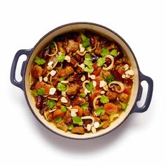 This much-loved Moroccan stew is an adaptable dish, here made rich and sticky with fruit and spice to complement tender, slow-cooked lamb Pureed Food Recipes, Lamb Recipes, Baby Food Recipes, Cooking Recipes, Chef Recipes, Moroccan Stew, Moroccan Salad, Lamb Tagine Recipe, Tagine Recipes