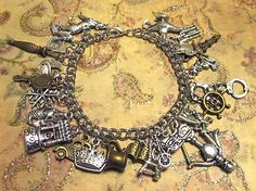 "$15.00 & up - Ultimate ONCE UPON A TIME Charm Bracelet w/ up to 27 Charms (7.25"" chain) - Choose Your Charms! - Custom Orders Welcome"