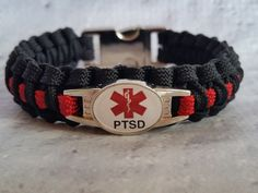 Medical ID PTSD Paracord Bracelet | Handmade By Heroes