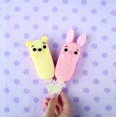 Loving Creations for You: Pooh Piglet Chiffon Cake Popsicles Chiffon Cake, Sponge Cake, Mini Cakes, Popsicles, Snack Recipes, Snacks, Plush, Sweets, Toys