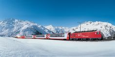 The Glacier Express runs from St. Moritz to Zermatt. Through the Alps, over 291 bridges and through 91 tunnels. A unique journey in the panorama train. Glacier Express Switzerland, Switzerland Tourism, Chur, Zermatt, Wallis, Places To Travel, Places To Go, Bernina Express, Alpine Adventure