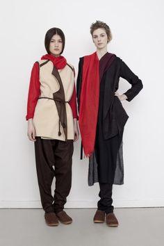 Reality Studio Fatma Fur waistcoat Poncho scarf