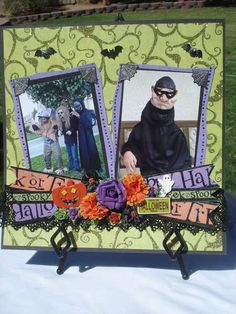 Halloween - Love the way this LO is done!