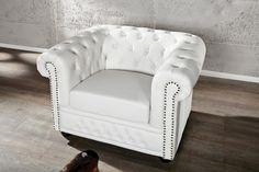 Biały fotel pokryty skórą ekologiczną 110x86cm 11223 - Sanit-Express™