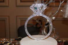 6 Ring Cake Topper Swarovski Crystals Available in by chicsparkles, $65.95