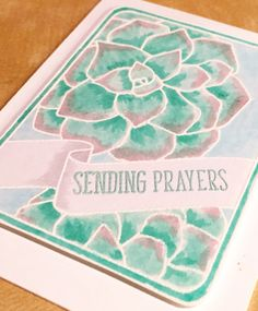 Neat & Tangled succulent card